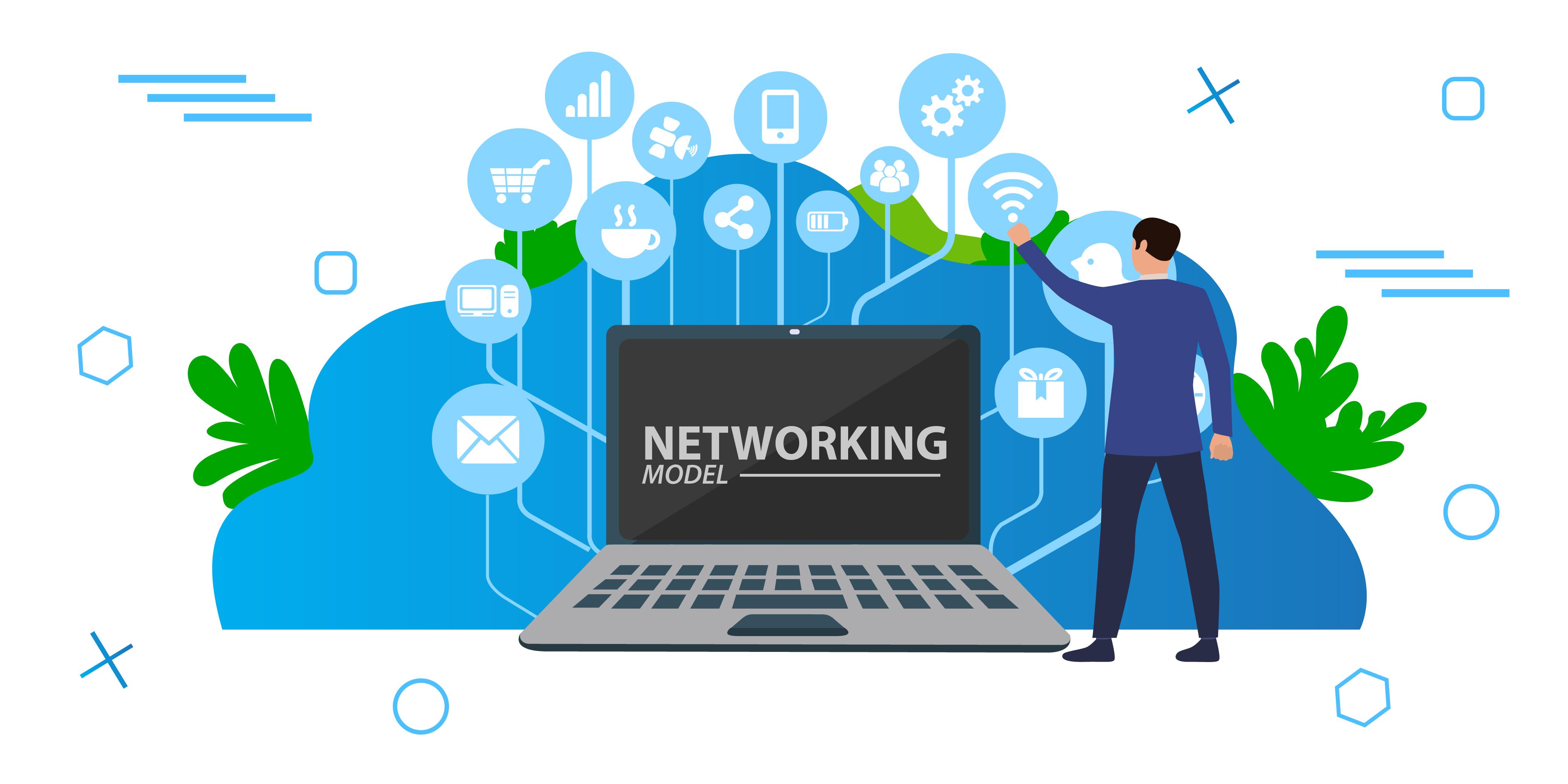 Networking model pelajar.in